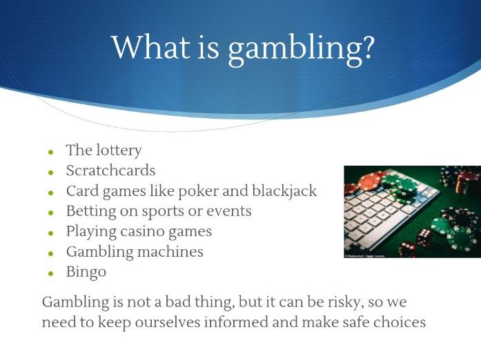 Gambling PowerPoint Presentation with Activities