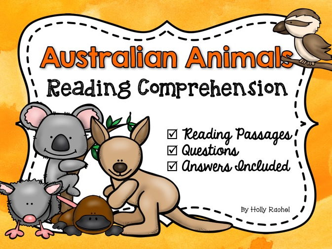 Australian Animals Reading Comprehension