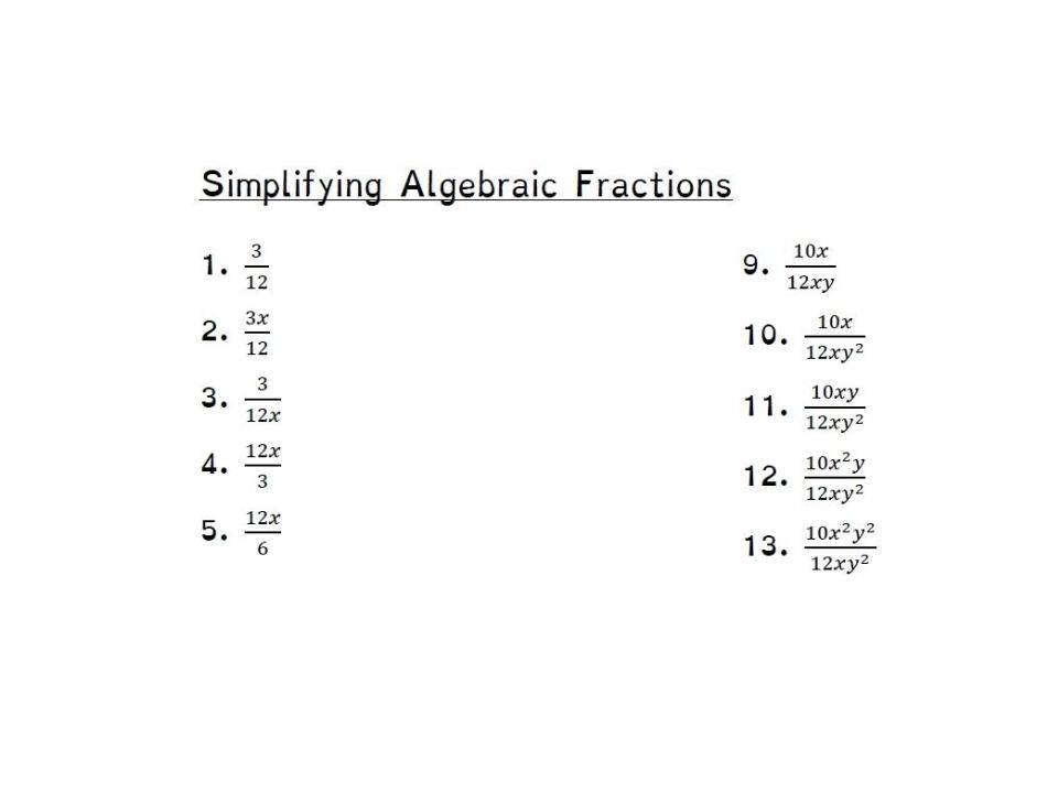 Algebra Worksheet-01