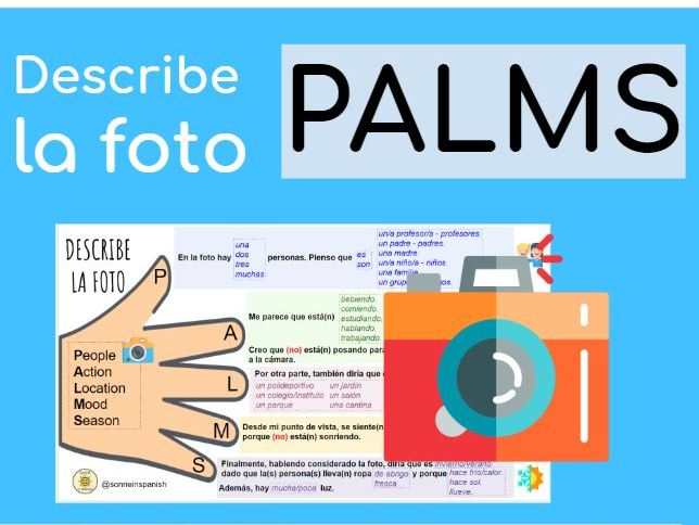 Describe la foto GCSE Spanish. PALMS Display.