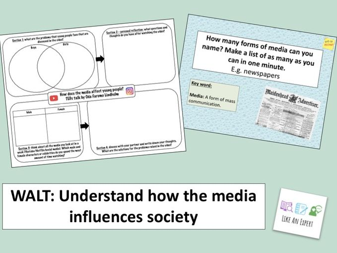 PSHE lesson: How does media affect young people and society?