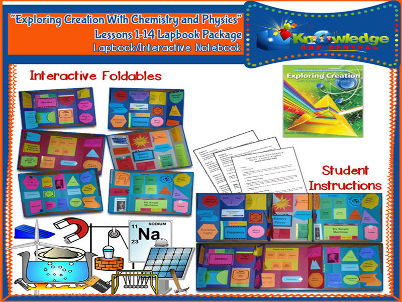 Apologia Exploring Creation with Chemistry and Physics Lapbook