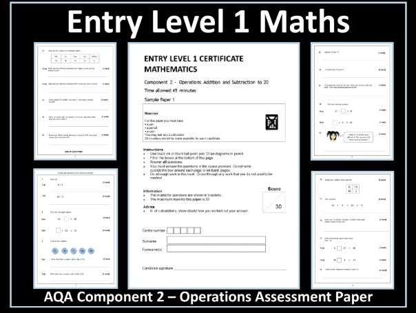 AQA Entry Level Maths Assessment - Operations