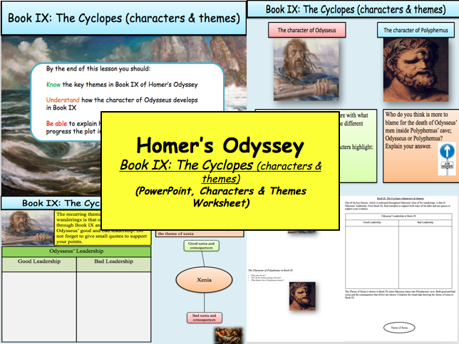 Homer S Odyssey Book Ix The Cyclopes Characters Themes