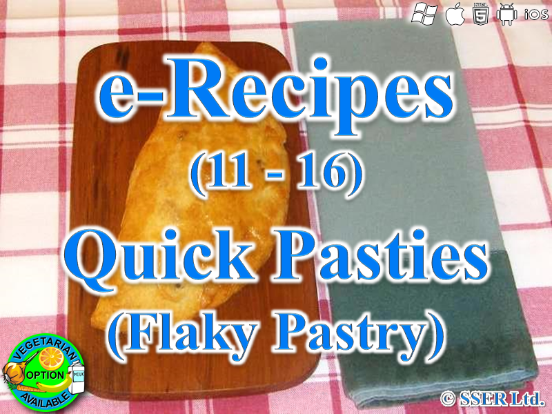 50.   Quick Flaky Pastry Pasties (e-Recipe)