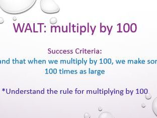 Multiply by 100 - PowerPoint
