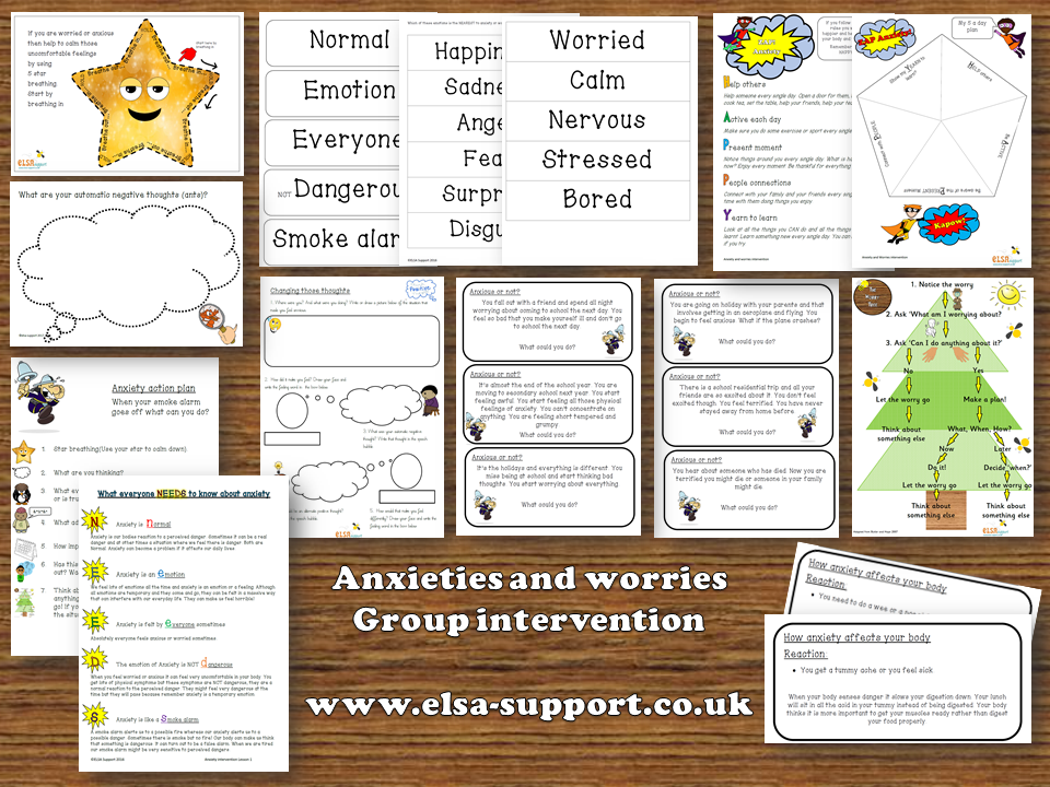 Mental Health - Anxiety and Worries Group intervention