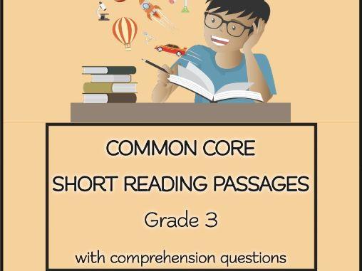 COMMON CORE Short Reading Passages Grade 3