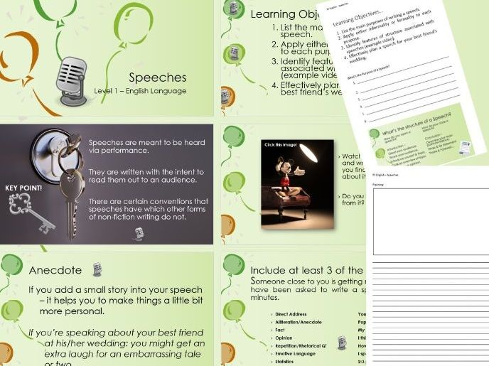 New Functional Skills English - Writing Speeches