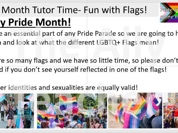 Tutor Time Activity- Pride Flags