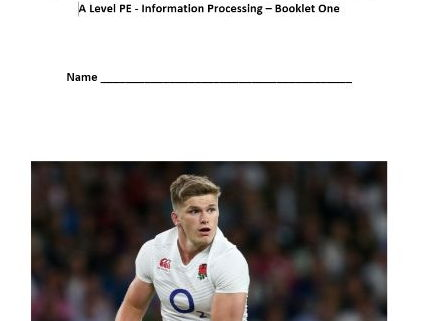 New AQA PE A Level. Information Processing - Pupil Workbook.