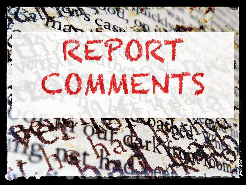 Form Teacher and Head of Year Report Comments 2019.