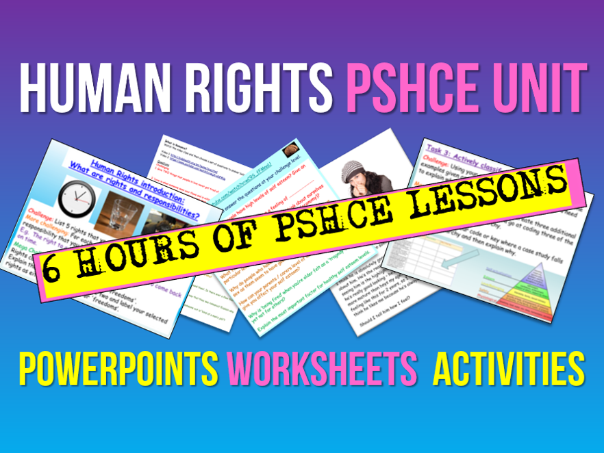 Human Rights PSHCE Unit