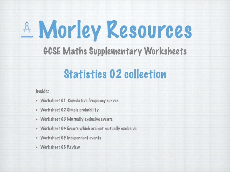 Statistics 02 GCSE Maths Collection