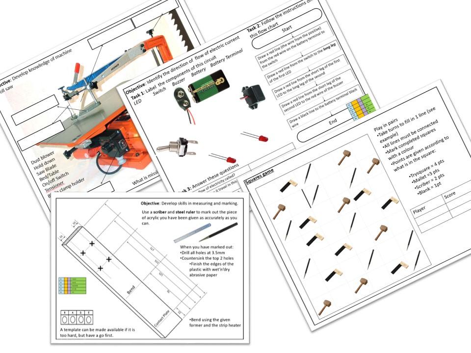 Door buzzer project booklet - lessons, worksheets, quizzes.plans.