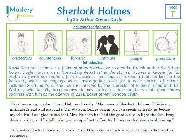 Sherlock Holmes -  A Scandal In Bohemia by Sir Arthur Conan Doyle Comprehension KS2