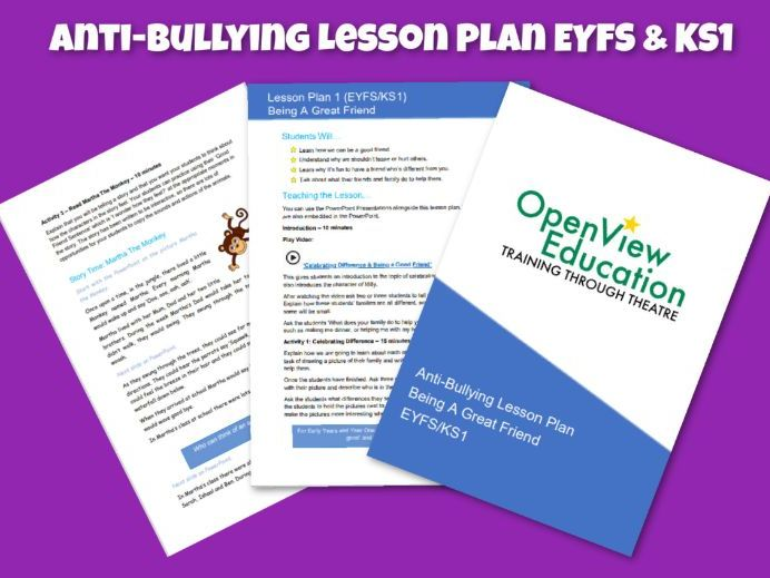 Anti-Bullying Lesson Plan KS1 & EYFS - Being a Great Friend