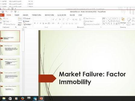 Economics - market failure  -  factor immobility