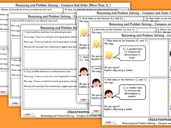 Compare and Order (More than 1) WRM Year 5 Reasoning and Problem Solving Pack