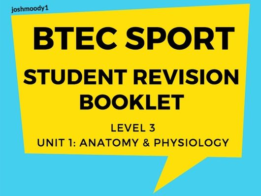 BTEC Level 3 Sport: Student Study/Revision Booklet