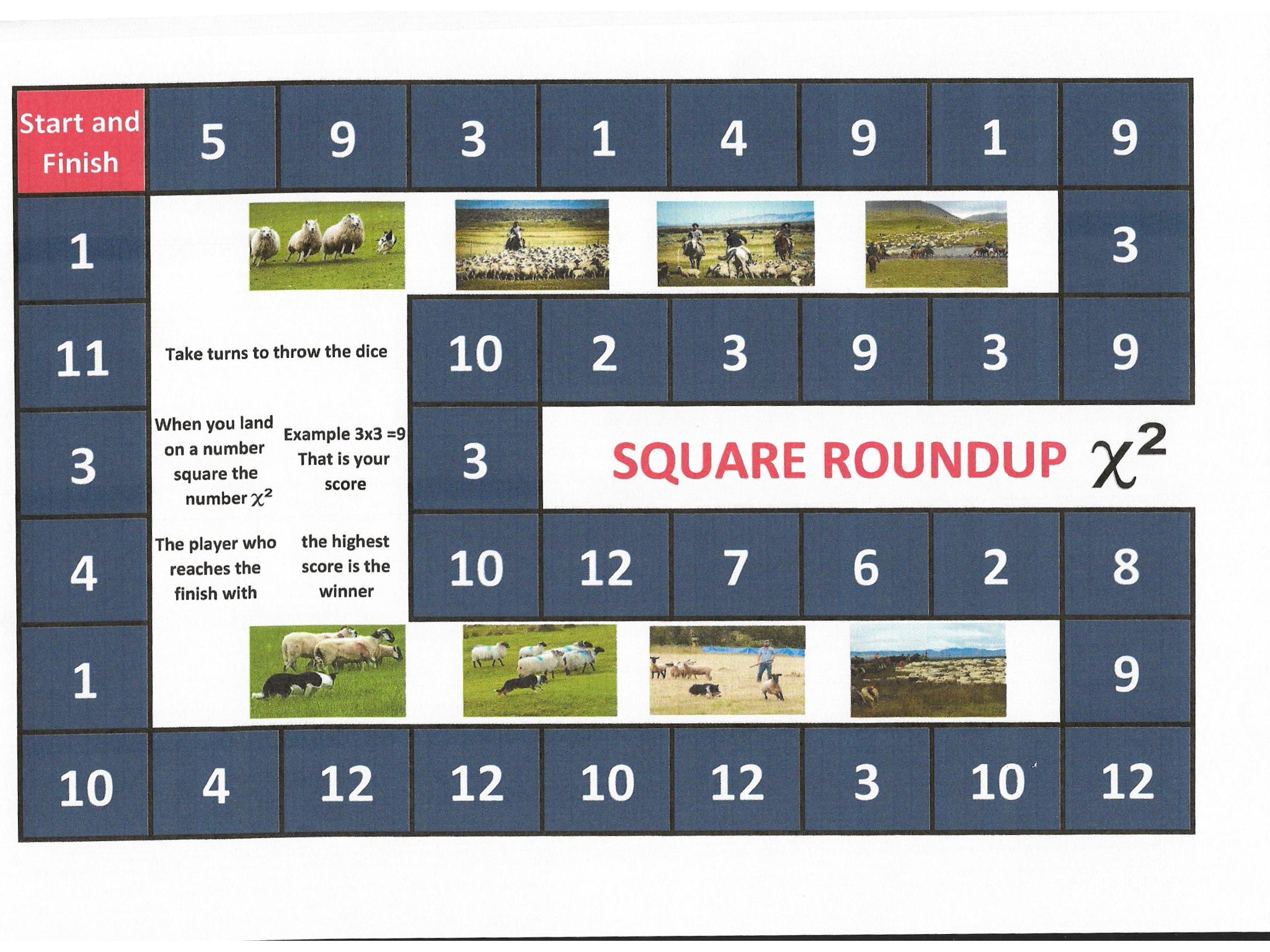 KS 1 Square Numbers Game