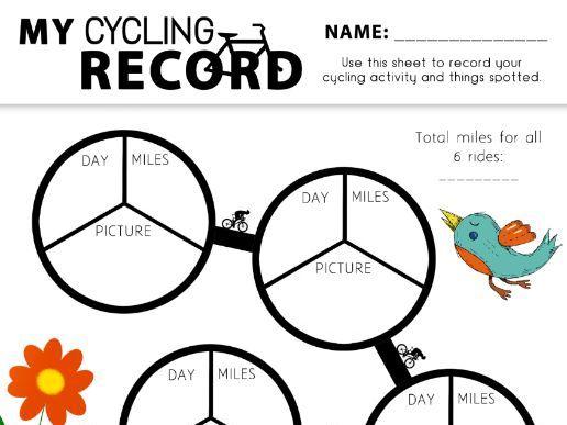 My Cycling Record Freebie