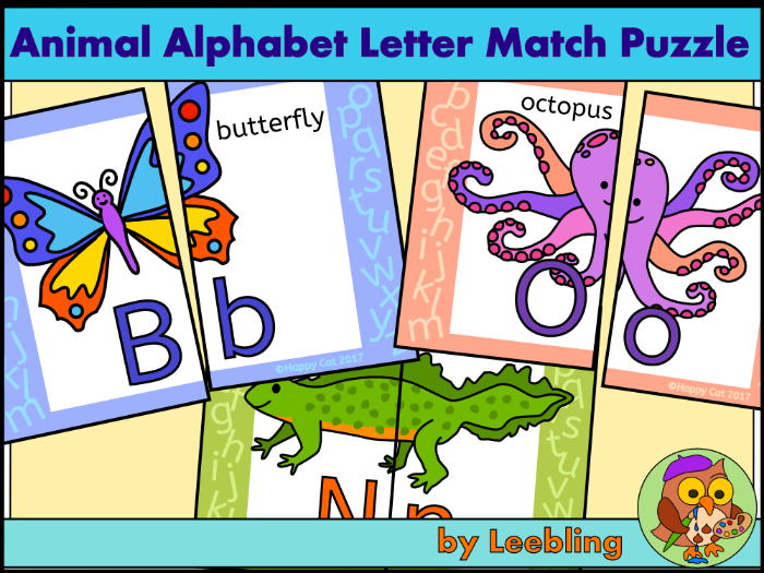 Animal Alphabet Letter Match - Upper and lower case letters