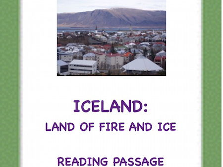 Iceland: A Reading Passage