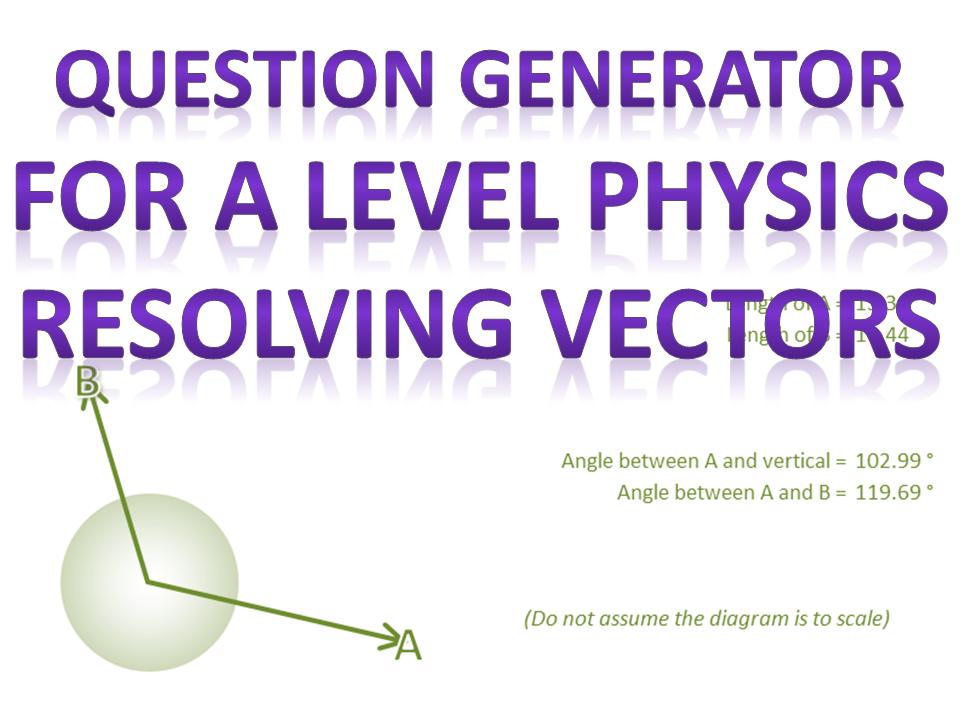 Resolving vectors question generator