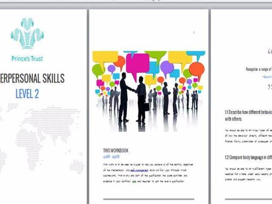 Prince's Trust Achieve Program Interpersonal Skills Workbook L2
