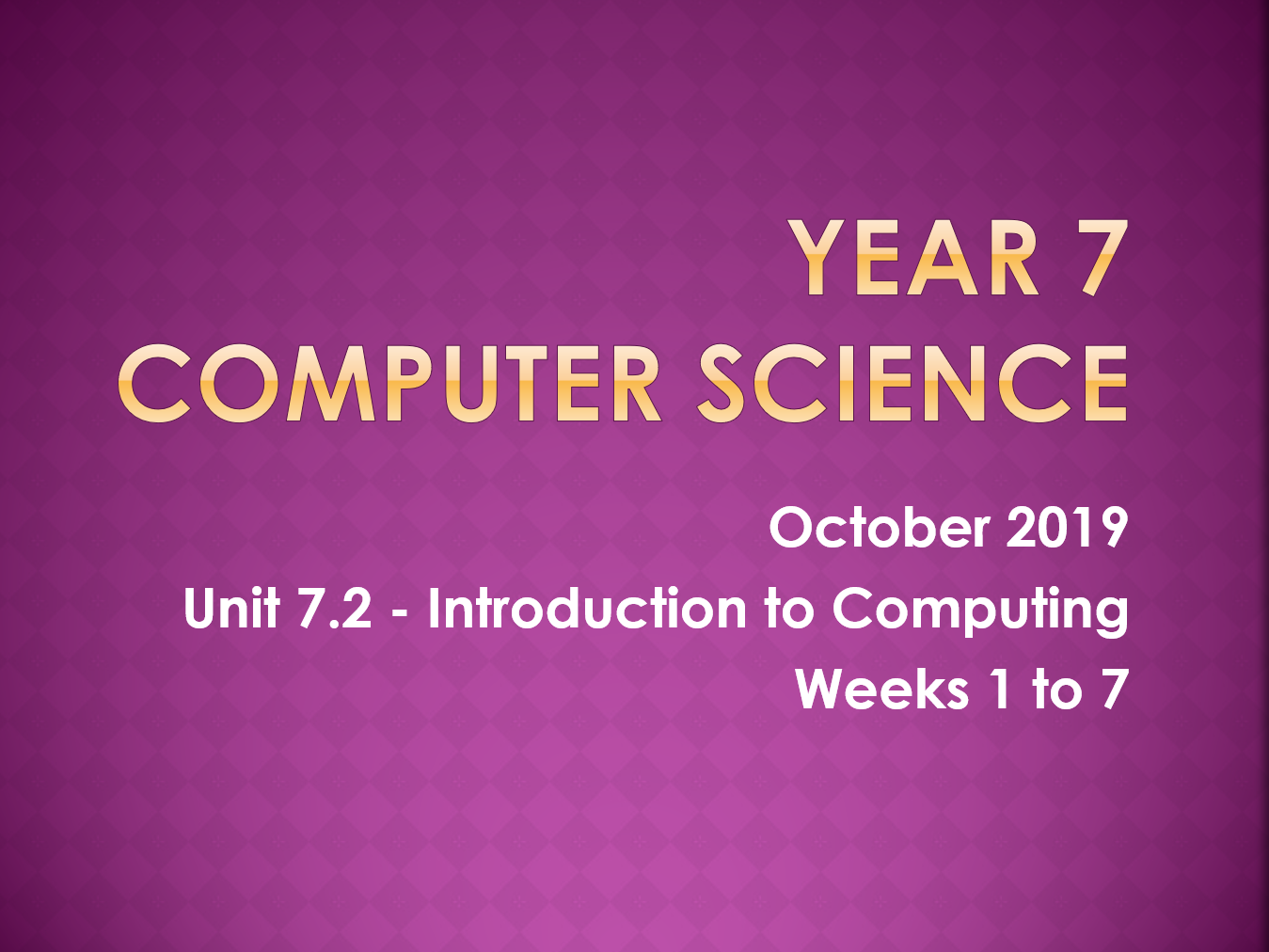 Complete Computer Science KS3 SOW: Introduction to Computing