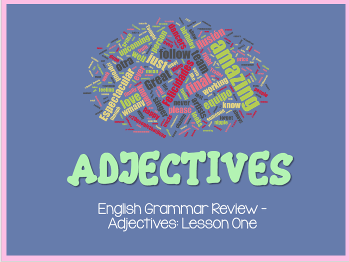 Adjectives (5 Lessons with Home Learning Tasks)