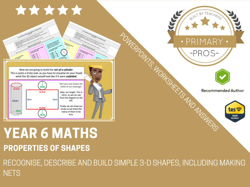 Recognise, describe and build simple 3-D shapes, including making nets