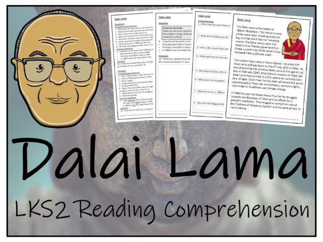 LKS2 Dalai Lama Reading Comprehension Activity
