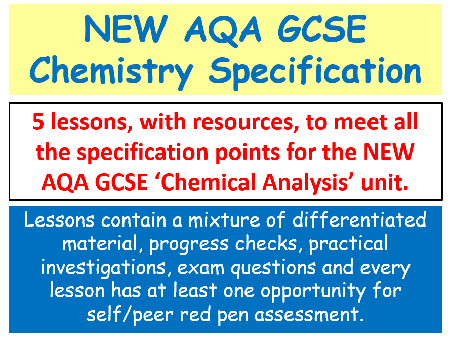 NEW AQA GCSE Chemistry - Chemical Analysis