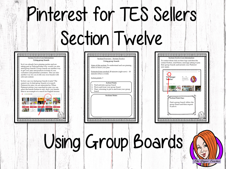 Pinterest for TES Sellers – Section Twelve: Using Group Boards