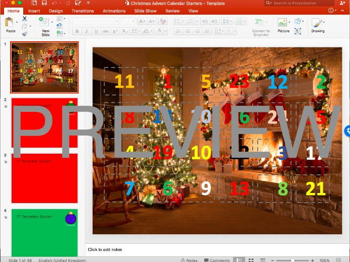 Advent Calendar Template By Impis - Teaching Resources - Tes