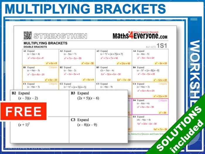 Multiplying Two Brackets (Progressive Worksheets)