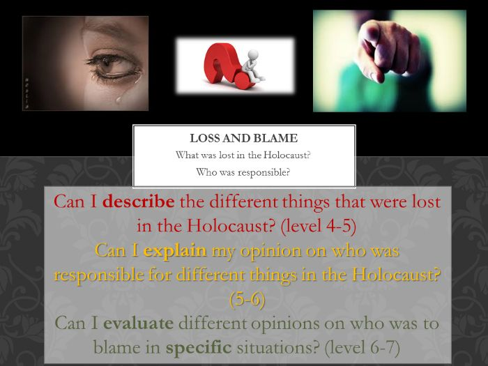 Loss and Blame in the Holocaust