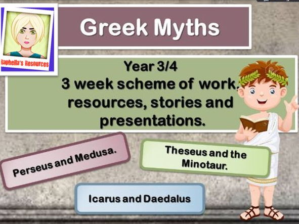 Greek Myths   Complete Scheme of Work. KS2