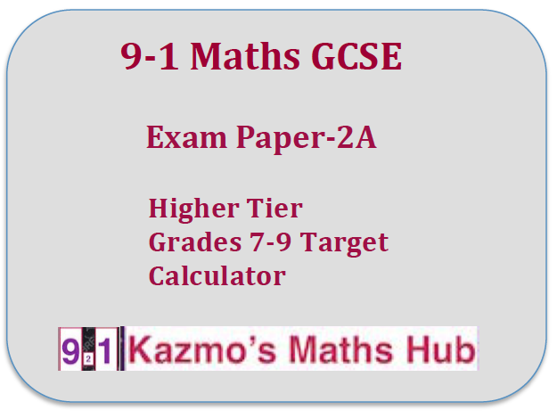 9-1 Maths Exam Paper -2A