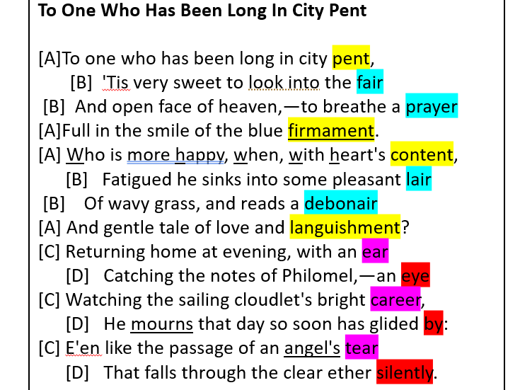 John Keats - To One Who Has Long Been In City Pent