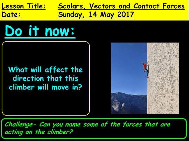 Scalars, Vectors and contact forces: 9-1 GCSE Physics