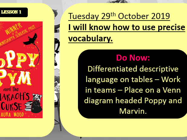 Year 5 English Slideshow_Character Description based on Ch1 and 2 from Poppy Pym_The Pharaoh's Curse