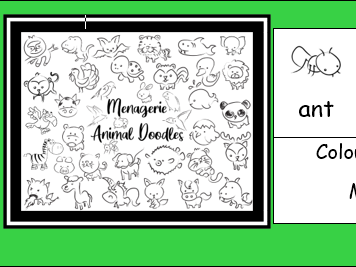 Menagerie Animal Doodles Colouring