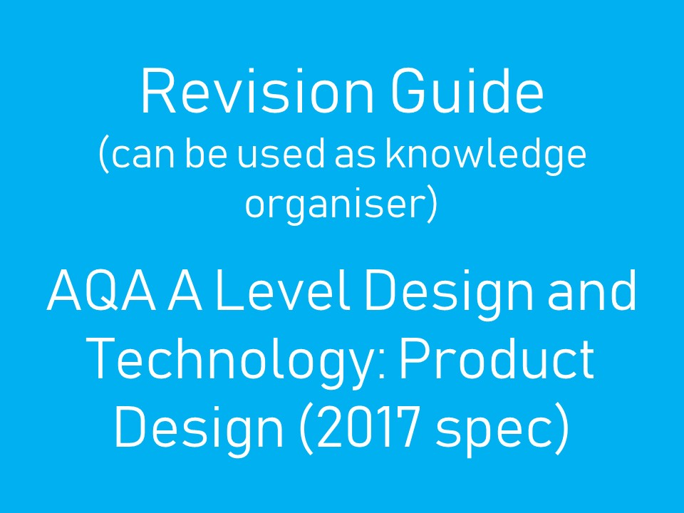 KO/Revision Guide for A Level Design and Technology: Product Design