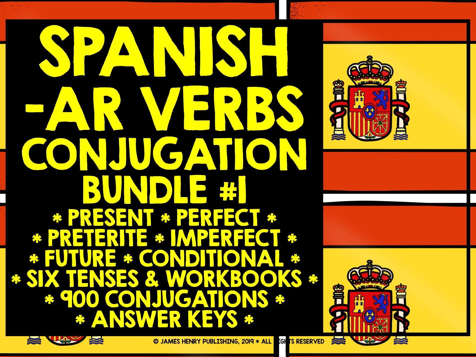 SPANISH -AR VERBS CONJUGATION BUNDLE #1