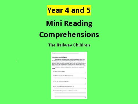 Mini Comprehensions for Year 4 and 5 Children (The Railway Children)