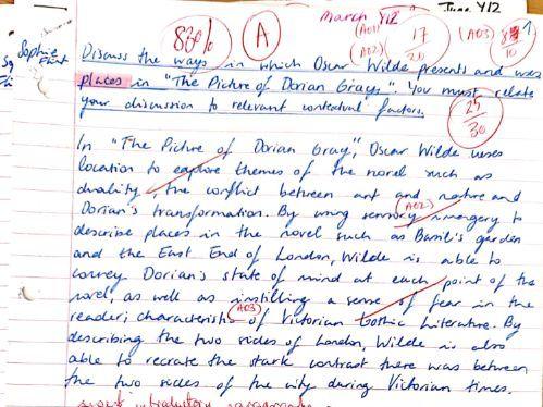 A grade essay on PLACES Dorian Gray A-Level