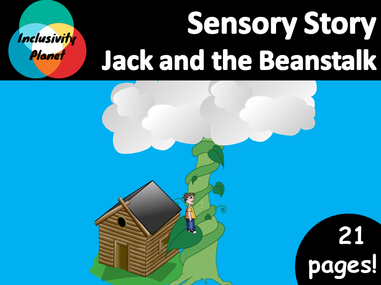 Jack and the Beanstalk SENSORY STORY including vocabulary cards/sequencing and sensory story guide